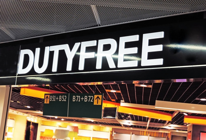 Duty Free shopping at the airport